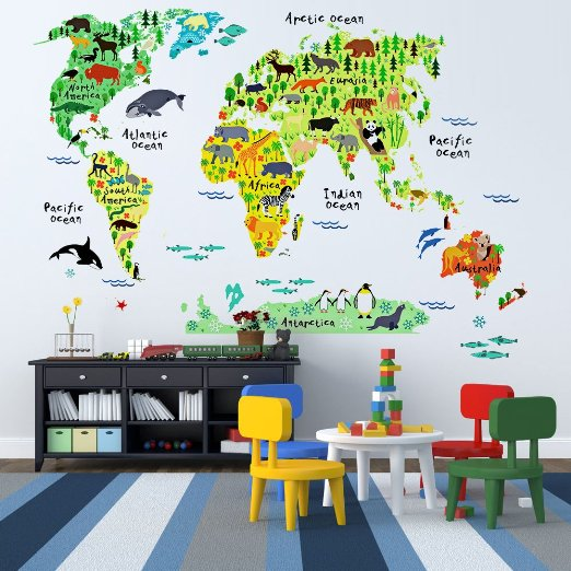 71LLzKhp5ML. SX522 1 - 10 Beautiful Wall Decals for Kids Room