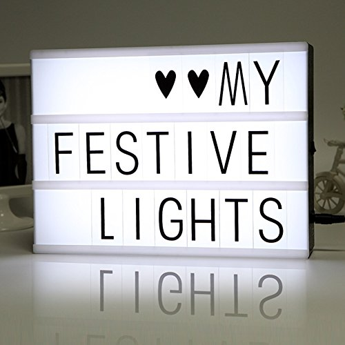 Free Combination Cinematic Light Box with Letters and LED Light - Can You Get Through This Post Without Spending 50$?