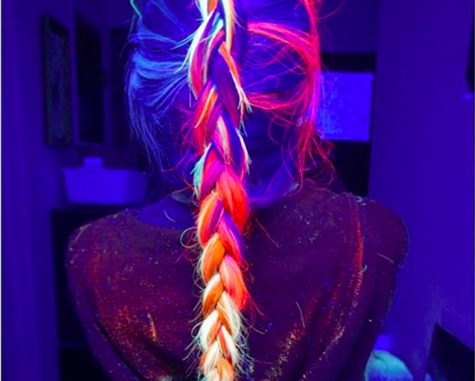 Make Your Hair Glow In-The-Dark Now